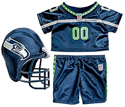 Build-a-Bear Workshop Seattle Seahawks Uniform 3 pc. Teddy Bear Sports Team Outfit