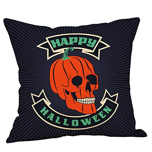 WFeieig_Halloween Blue Page Lumbar Small Decorative Throw Pillow Covers for Sofa Couch Bedroom Living Room]()