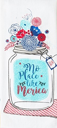 ''No Place Like Merica'' Kitchen Flour Sack Hand Dish Towel ~ USA America