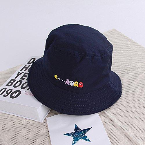 ZHANGYONG*Cap niños verano marea pescador hat visor parejas viajando sunscreen cuenca playa cap cap y sombreros, M (56-58cm) , azul marino