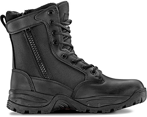 Maelstrom Tac Force 8'' Women's Black Waterproof Boots With Zipper – Military, Work & Tactical Boots – Athletic, Breathable, Durable, Comfortable & Lightweight Boots For Women, Size 8.5M