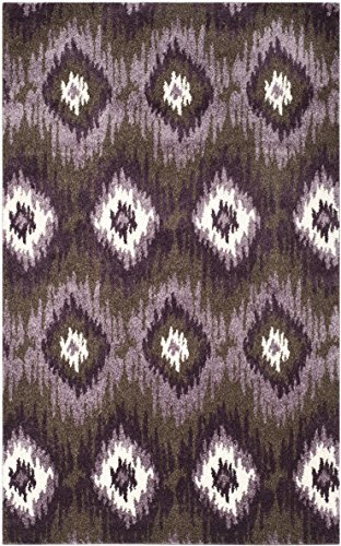 Safavieh Retro Collection RET2143-2873 Dark Brown and Eggplant Area Rug, 5 feet by 8 feet (5' x 8') ()