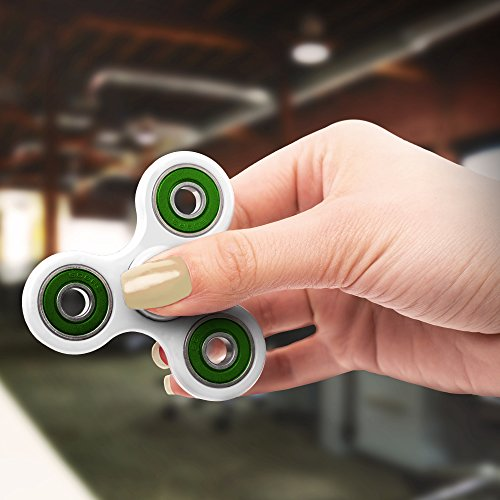 Really Cool Fidget Spinner for Kids and Adults - Relieve Stress and Boredom with our Figit Spinner | This White Spinner Fidget Toy is Perfect for Any Age | Hand Spinner Photo #9