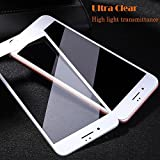 iPhone 8 Tempered Glass Screen Protector for Apple 8 Twice Tempered, Super Strong 9H Hardness, Proud-Focus Screen Protector (White)