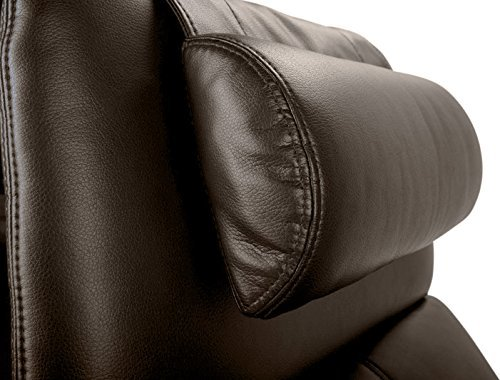 Octane Seating OCT BR Octane Brown Leather Head and Neck Pillow Brown Leather Pillow Top Sofa