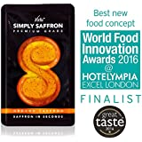 Spanish Saffron: Simply Saffron Box of 3 Sachets (3x10g) - Ground Saffron (Gel). Pure Premium Grade Spanish Saffron: Finalist World Food Innovation Awards