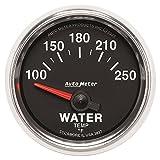 Auto Meter 3837 GS 2-1/16'' 100-250 F Short Sweep Electric Water Temperature Gauge