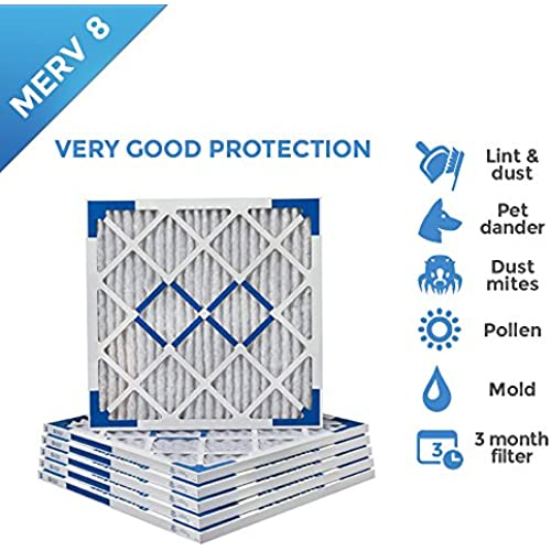 6 Pack Tier1 18x18x1 Dust and Pollen Merv 8 Replacement AC Furnace Air Filter