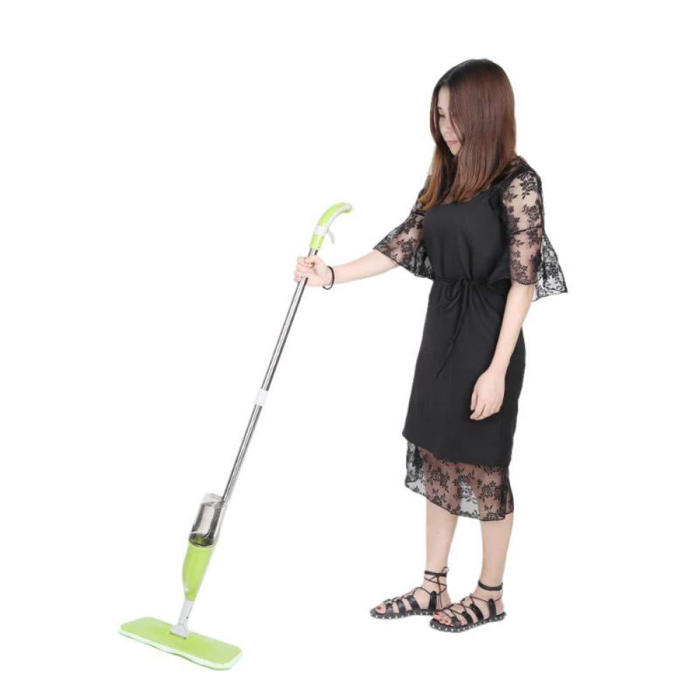 FGVBWE4R Spray Mop Paño de Limpieza Cabeza Combinación Piso De Madera Azulejo de cerámica Fregona automática Herramientas de Limpieza para el hogar en seco: ...