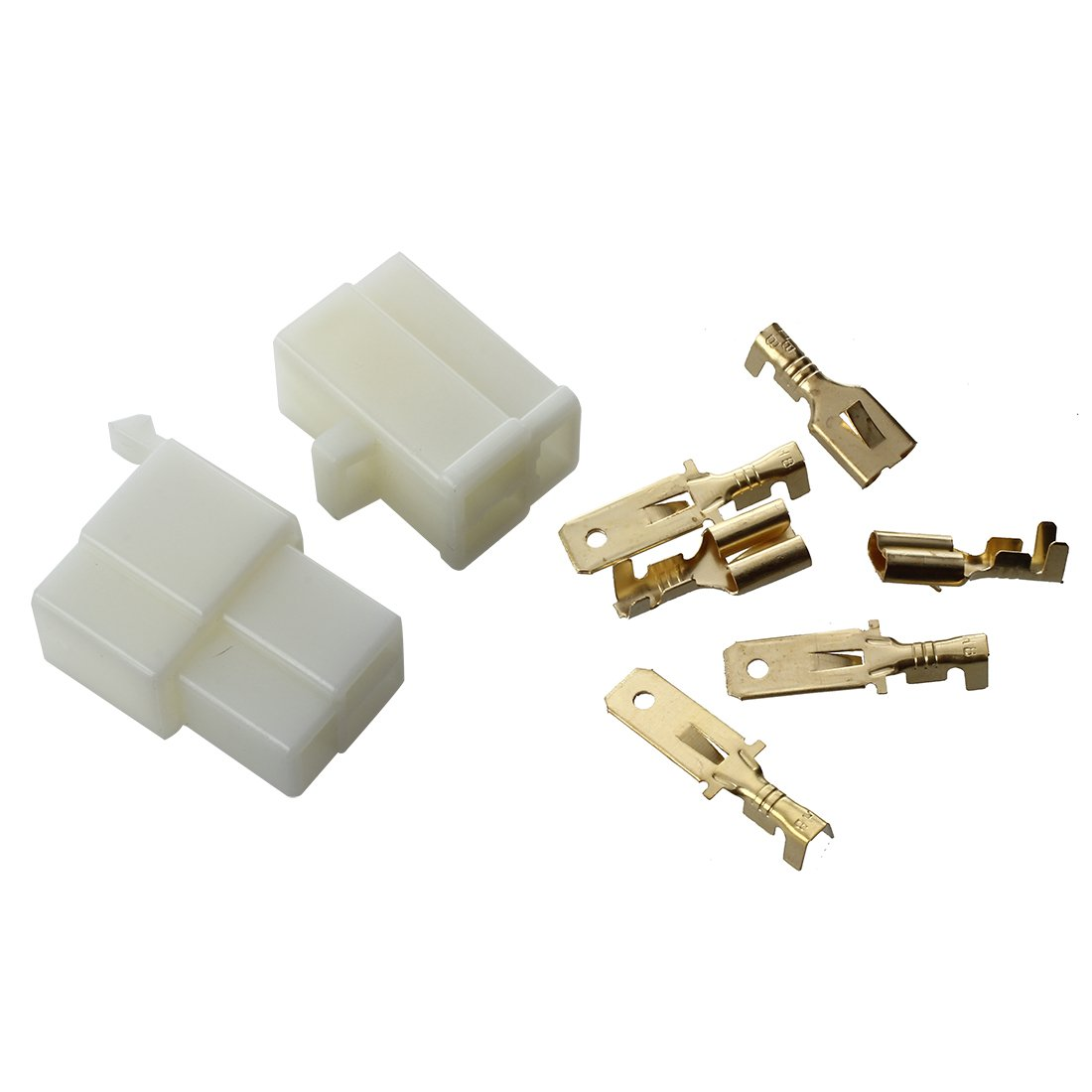 connector - SODIAL(R)set 3-pin plug connector tab 6.3 mm motorcycle scooter car