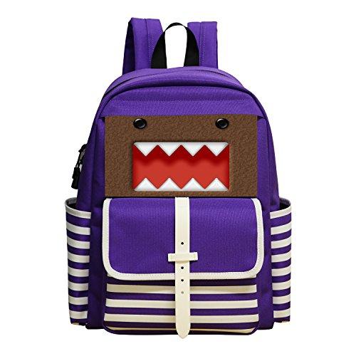[New Style Rucksack Trend Design School Backpak School Bag Daypack Shoulder Book Bag For Kid Children Girls Boys Cool Domo kun Face] (Domo Kun Handbag)