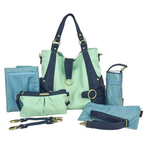 Timi y Leslie TL-214-01MN Hannah colores pastel, verde menta, azul marino, de cuero mirar con contenido