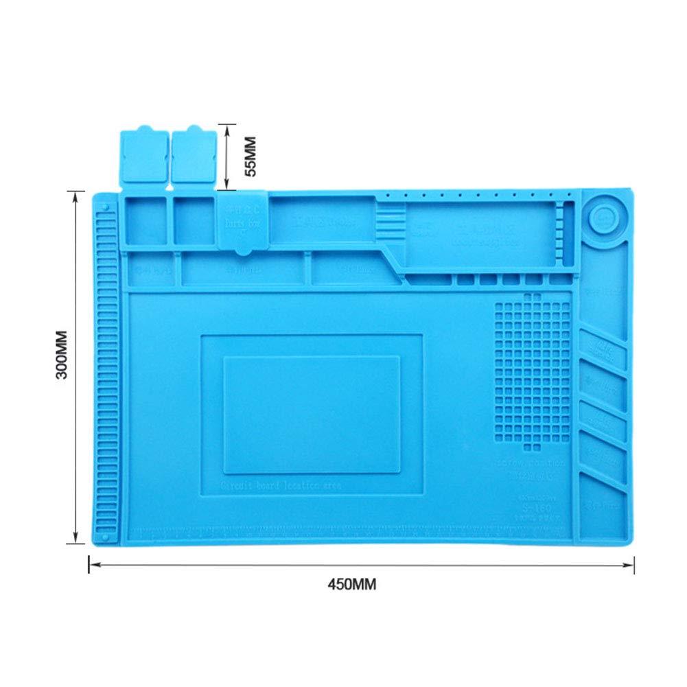 Starall Silikon-L/ötpad-Matten-W/ärmed/ämmungs-Wartungsplattform mit magnetischem f/ür Reparatur-Station