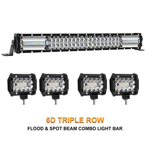 LED Light Bar Kit, Rigidhorse 320W 32000LM 22 Inch + 4Pcs 4