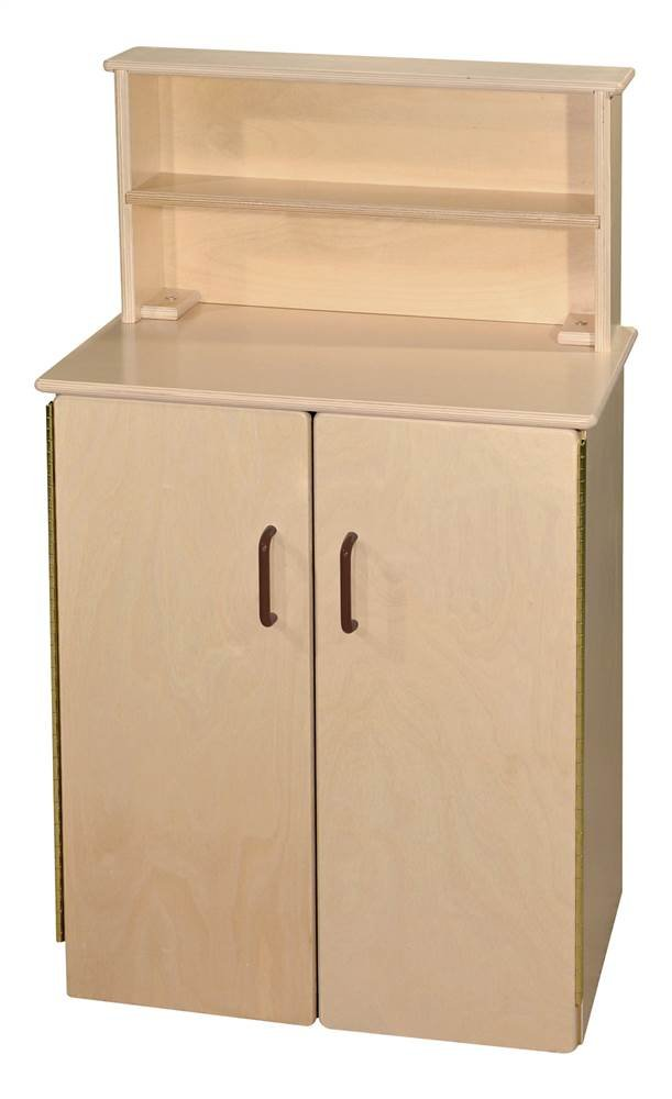 School Age Deluxe Hutch with Brown Handles
