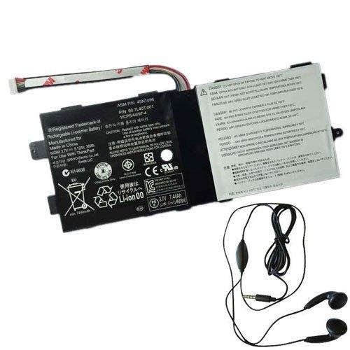 Replacement Battery for Lenovo 45N1096, Tablett 2 3679-25G, 3679-4HG, X220T, 45N1098 - Includes Stereo Earphone