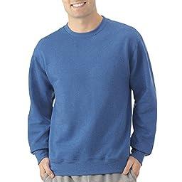 Fruit of the Loom Men\'s Crew Sweatshirt (Large, Blue My Mind)