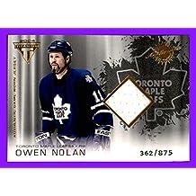 2003-04 Pacific Titanium #184 Owen Nolan GAME USED JERSEY SWEATER TORONTO MAPLE LEAFS SERIAL #362/875