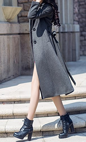 PLAER - Abrigo - chaqueta - para mujer gris