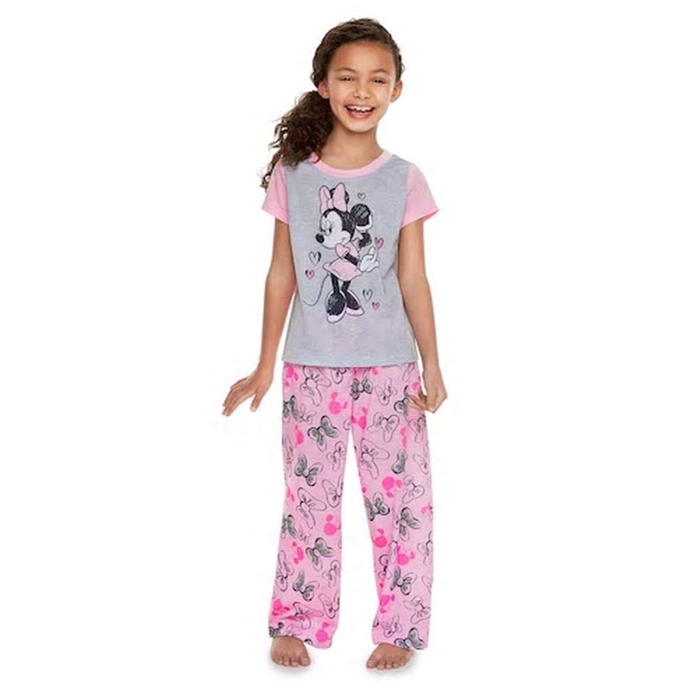 Disney Minnie Mouse Size 8 Hearts and Bows Polyester Pajama Set