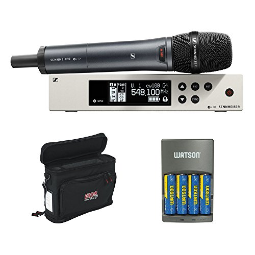Sennheiser ew 100-835 G4-S Wireless Handheld Microphone System with GM-1W Wireless Mobile Pack and Rapid Charger with 4 AA Battery ()