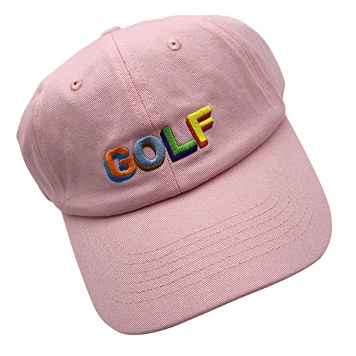 wuxianyong Golf Dad Hat Baseball Cap 3D Embroidered Adjustable Snapback Unisex Pink