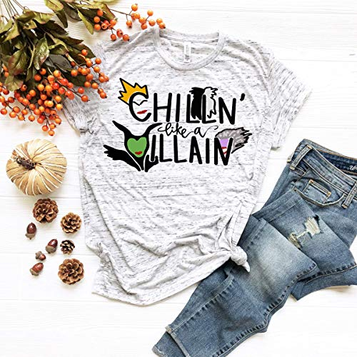 chillin like a villain shirt mom shirt matching shirts family shirts not so scary shirt autumn halloween fall spooky