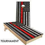 Firefighter Thin Red line 4' x 2' tournament bean bag toss