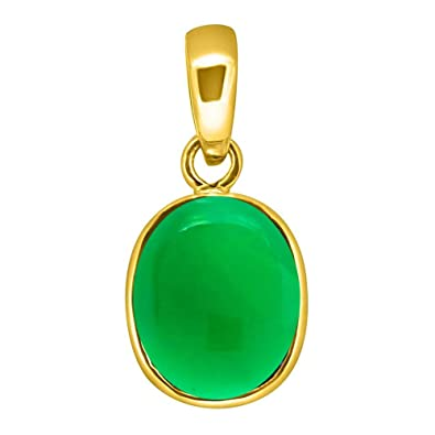 Buy Accurate Traders Natural Green Onyx Gemstone Panchdhatu