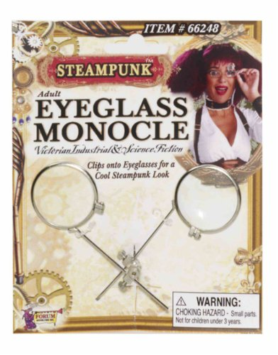 Steampunk Clip-On Eyeglass - Punk Eyeglasses