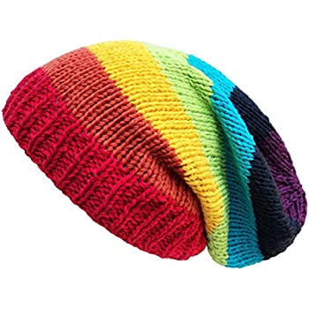 202db5782 Amazon.com: ACVIP Men Women Stripes Knit Hat Snowboard Beanie Skull ...