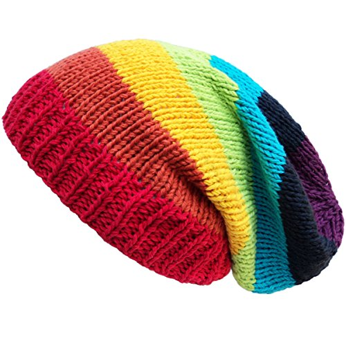 Asian Idyllica Crochet Knit Baggy Beanie One Size -