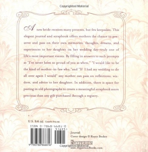 For My Daughter on Her Wedding Day: A Keepsake Journal from Mother ...