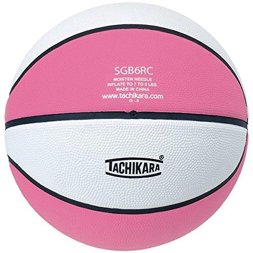 (Tachikara Top Grade Rubber Basketball, Size 6, Pink/White)