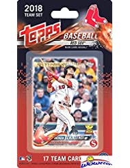 Boston Red Sox 2018 Topps Baseball EXCLUSIVE Special Limited Edition 17 Card Complete Team Set with Andrew Benintendi, Rafael Devers ROOKIE  & Many More Stars & RC's! Shipped in Bubble Mailer! WOWZZER