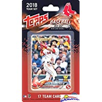 fan products of Boston Red Sox 2018 Topps Baseball EXCLUSIVE Special Limited Edition 17 Card Complete Team Set with Andrew Benintendi, Rafael Devers ROOKIE  & Many More Stars & RC's! Shipped in Bubble Mailer! WOWZZER