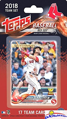 (Boston Red Sox 2018 Topps Baseball EXCLUSIVE Special Limited Edition 17 Card Complete Team Set with Andrew Benintendi, Rafael Devers ROOKIE  & Many More Stars & RC's! Shipped in Bubble Mailer! WOWZZER)