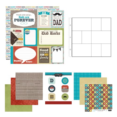 (Scrapbook Customs Themed Paper and Stickers Scrapbook Kit, Dad)