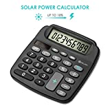 DIGOO DG-MC1 Electronic Desktop Calculator, Scientific Standard Function Calculator, Solar Power Energy Mini Calculator, With High Definition LCD Screen Display, 11 Digits for Business & Office