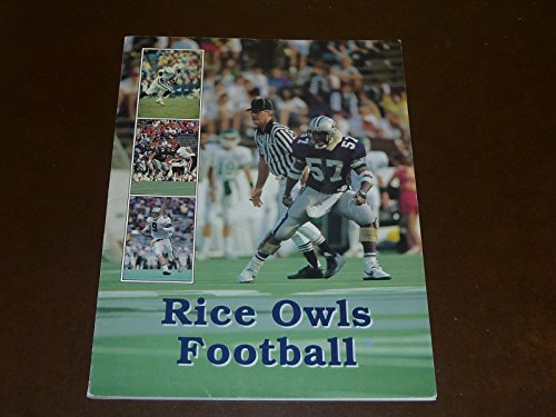 1989 RICE OWLS COLLEGE FOOTBALL MEDIA GUIDE EX-MINT BOX 22]()