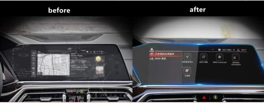 F/ür BMW X5 G05 X7 G07 2019 Lhd U MATBC Auto-Ausgeglichenes Glas-Schirm-Navigations-Sch/ützender Film-Bildschirm Anzeigen-Schutz