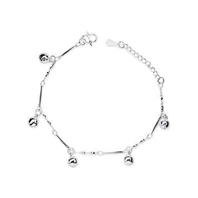 NANHONG Dainty Jewellery Beaded Charm Bracelet in 925 Sterling silver Hand Catenary with Gift Box kaiCL