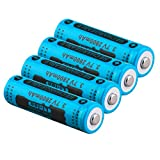 Battery 14500 Rechargeable, 3.7V 2800mAh High-Capacity Rechargeable Lithium for 14500 Flashlight Torch (4PCS)