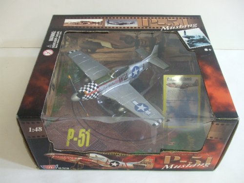 Motor Max P-51 Mustang BIG BEAUTIFUL DOLL Nose Art - 1:48 scale Die-cast and Plastic Fighter (P-51 Big Beautiful Doll)