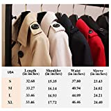 FARVALUE Women's Double Breasted Trench Coat Water