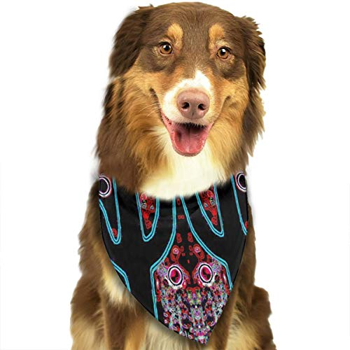 OURFASHION Coyotes Frosty Winter's Night Bandana Triangle Bibs Scarfs Accessories for Pet Cats and Puppies ()