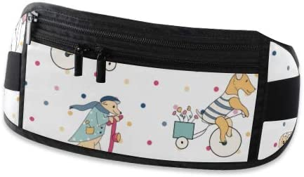 Travel Waist Pack,travel Pocket With Adjustable Belt Dogs Ride Bicycles Animals Travel On Running Lumbar Pack For Travel Outdoor Sports Walking