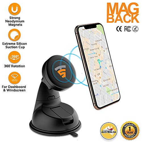 Phone Holder Magnetic Mount for Office Desk Dashboard Windshield Phone Mount Sturdy Adjustable Multi-Angle Car Mount Holder Stand with Adjustable Telescopic Arm for All Cell Phones /& Garmin GPS