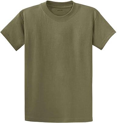 Joes USA - Camiseta para hombre de peso pesado, 100 % algodón, tallas grandes, grandes y altas