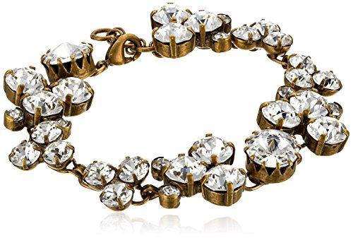 "Sorrelli Well-Rounded Crystal Line Bracelet, 7.5"""